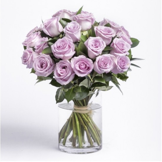 20 Roses - Purple Roses Bouquet
