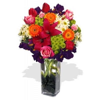 Assorted Flowers Vase Bouquet