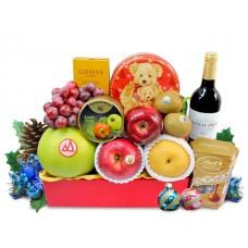 Christmas Fruits and Wine Godiva Chocolate Hamper